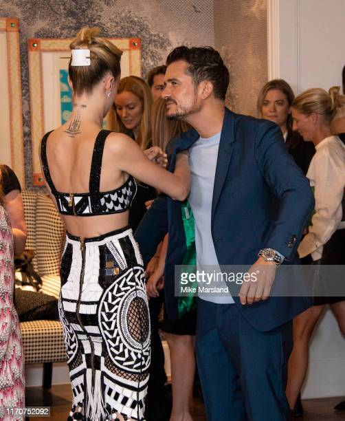 Cara Delevingne and Orlando Bloom attend the Amazon Original series Carnival Row London Screeing at The Ham Yard Hotel on August 28 2019 in London...