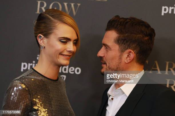 Cara Delevingne and Orlando Bloom attend the Carnival Row Special Screening at Astor Film Lounge on August 26 2019 in Berlin Germany