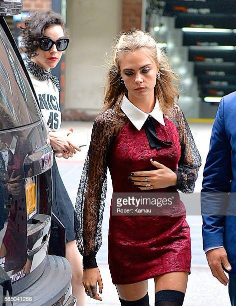 Cara Delevingne and St Vincent seen out in Tribecca on August 1 2016 in New York City