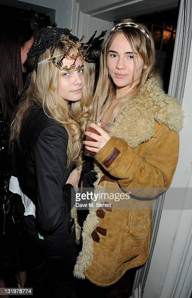 Cara Delevingne and Suki Waterhouse attend the Alice Olivia Black Tie Carnival hosted by designer Stacey Bendet at Paradise by Way of Kensal Green on...