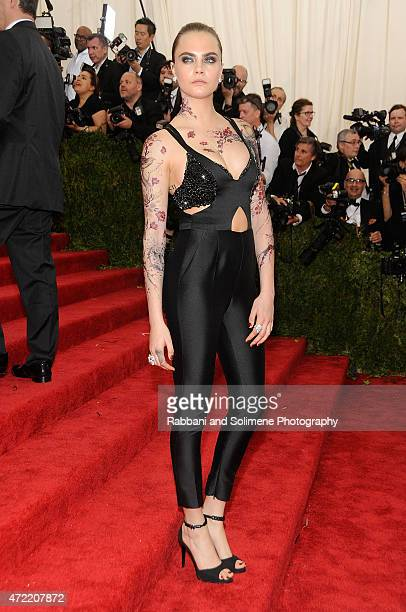 Cara Delevingne arrives at 'China Through The Looking Glass' Costume Institute Benefit Gala at the Metropolitan Museum of Art on May 4 2015 in New...