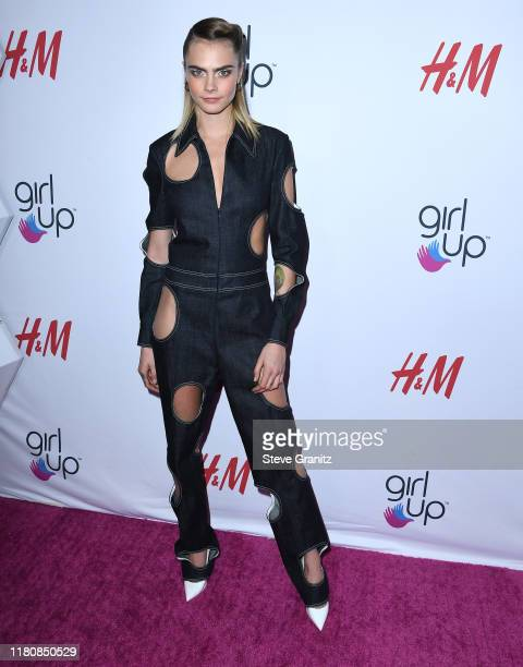 Cara Delevingne arrives at the 2nd Annual Girl Up #GirlHero Awards at the Beverly Wilshire Four Seasons Hotel on October 13 2019 in Beverly Hills...