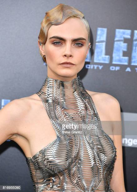 Cara Delevingne arrives at the Premiere Of EuropaCorp And STX Entertainment's 'Valerian And The City Of A Thousand Planets' at TCL Chinese Theatre on...