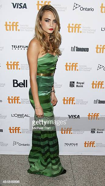 Cara Delevingne arrives at the premiere of The Face of an Angel held during the 2014 Toronto International Film Festival Day 3 on September 6 2014 in...