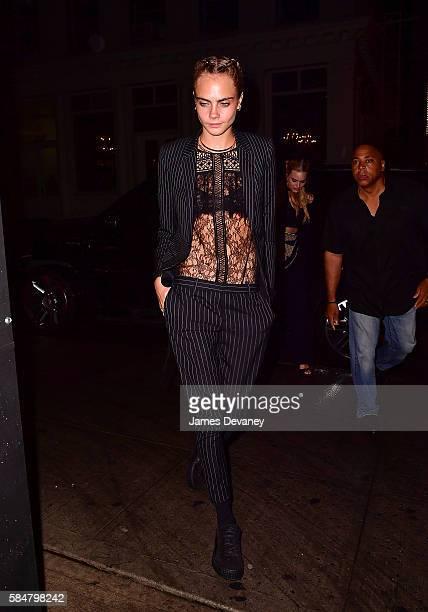 Cara Delevingne arrives to Belle Reve on July 30 2016 in New York City