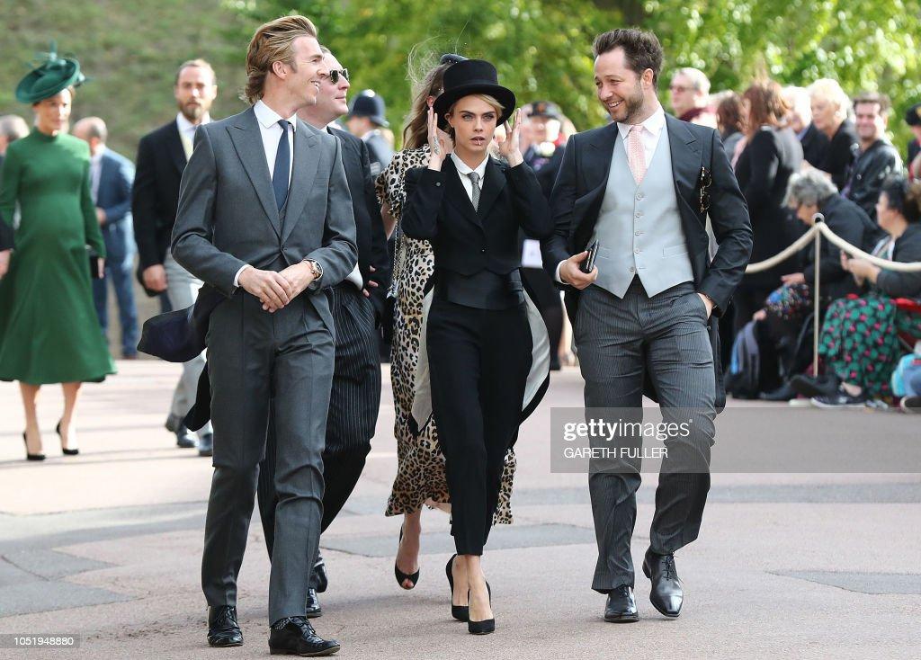 TOPSHOT-BRITAIN-ROYALS-WEDDING-EUGENIE : News Photo