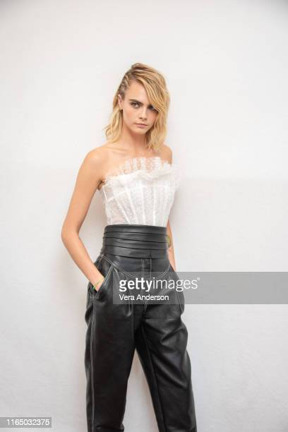 Cara Delevingne at the Carnival Row Press Conference at The Beverly Hilton Hotel on July 27 2019 in Beverly Hills California