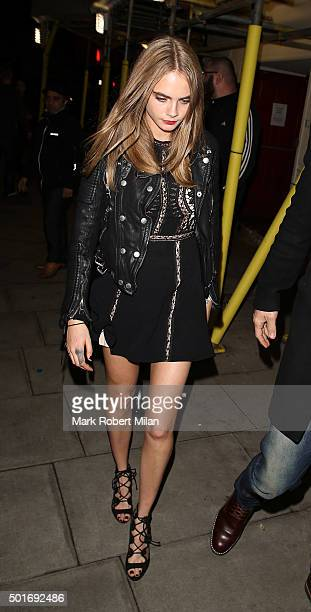 Cara Delevingne at the Scala in Kings Cross on December 16 2015 in London England