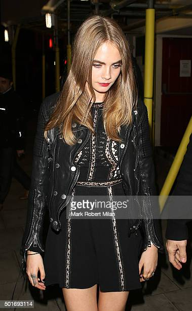 Cara Delevingne at the Scala in Kings Cross on December 16, 2015 in London, England.