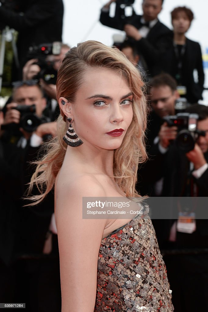 Cara Delevingne at the 'The Search' Premiere during 67th Cannes Film Festival