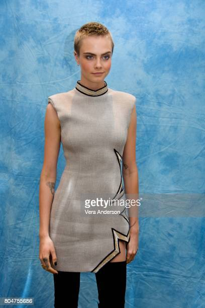 Cara Delevingne at the 'Valerian and the City of a Thousand Planets' Press Conference at the Four Seasons Hotel on June 30 2017 in Beverly Hills...