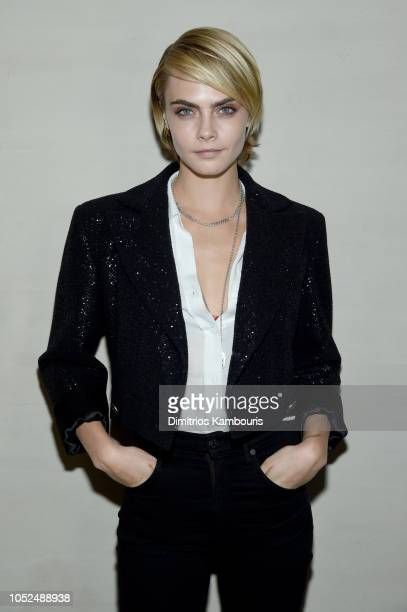 Cara Delevingne at Through Her Lens The Tribeca Chanel Women's Filmmaker Program Celebration at Greenwich Hotel on October 18 2018 in New York City