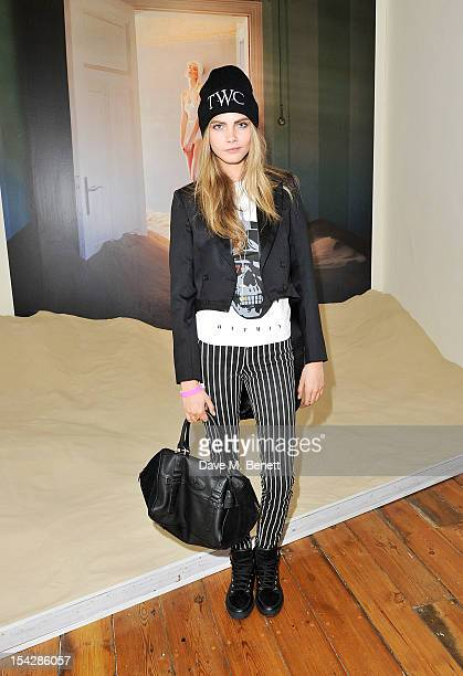 Cara Delevingne attends a private view of 'Tim Walker Story Teller' supported by Mulberry at Somerset House on October 17 2012 in London England