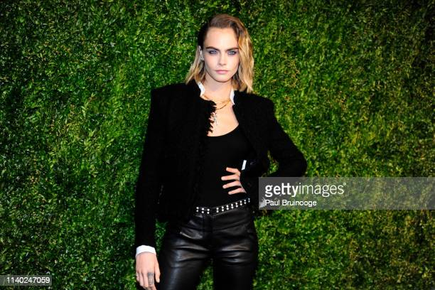 Cara Delevingne attends Chanel Hosts The 2019 Tribeca Film Festival Artist's Dinner at Balthazar, NYC on April 29, 2019 in New York City.