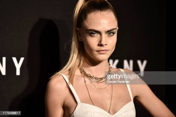 Cara Delevingne attends DKNY 30th Anniversary party at St. Ann's Warehouse on September 09, 2019 in New York City.