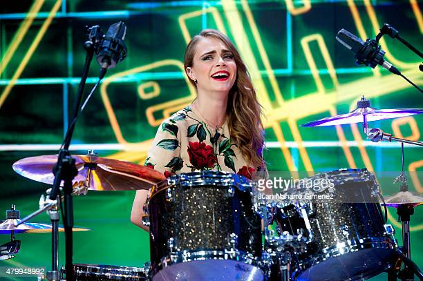 Cara Delevingne attends 'El Hormiguero' Tv show at Vertice Studio on July 8 2015 in Madrid Spain