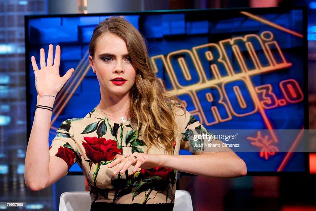 Cara Delevingne  Attends 'El Hormiguero' Tv Show : News Photo