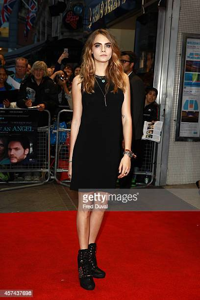 Cara Delevingne attends 'Face of an Angel' screening at Odeon West End on October 18 2014 in London England