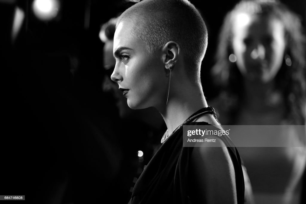 Cara Delevingne attends Magnum party during the 70th annual Cannes Film Festival at Magnum Beach on May 18, 2017 in Cannes, France.