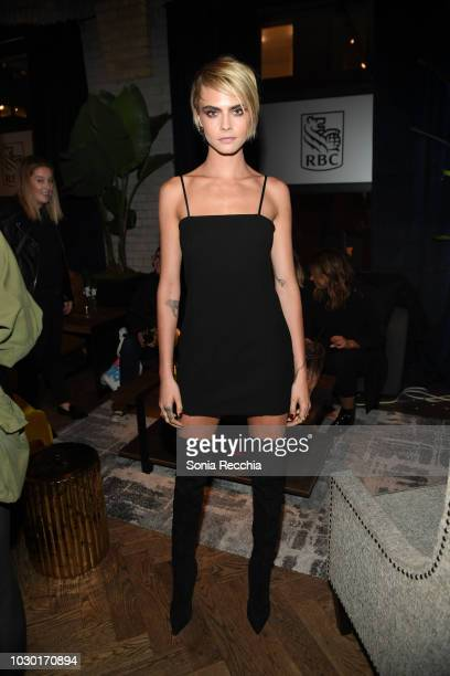 Cara Delevingne attends RBC hosted Her Smell cocktail party at RBC House Toronto Film Festival on September 9 2018 in Toronto Canada