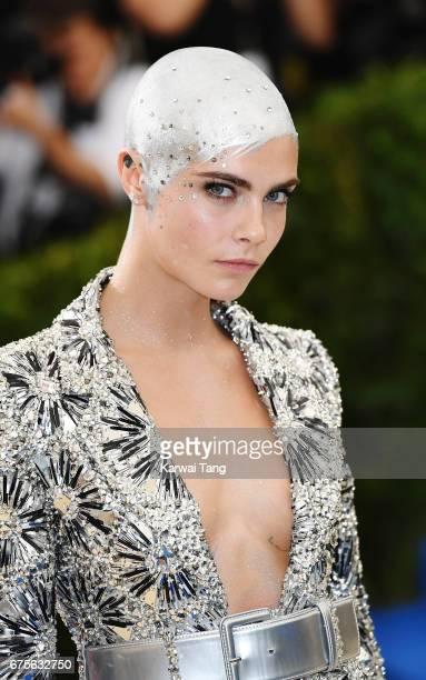 Cara Delevingne attends 'Rei Kawakubo/Comme des Garcons Art Of The InBetween' Costume Institute Gala at Metropolitan Museum of Art on May 1 2017 in...