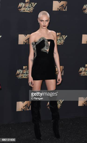 Cara Delevingne attends the 2017 MTV Movie And TV Awards on May 7 2017 in Los Angeles California