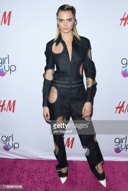 Cara Delevingne attends the 2nd Annual Girl Up #GirlHero Awards at the Beverly Wilshire Four Seasons Hotel on October 13 2019 in Beverly Hills...