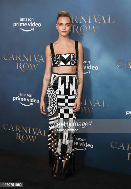 Cara Delevingne attends the Amazon Original series Carnival Row London Screeing at The Ham Yard Hotel on August 28 2019 in London England