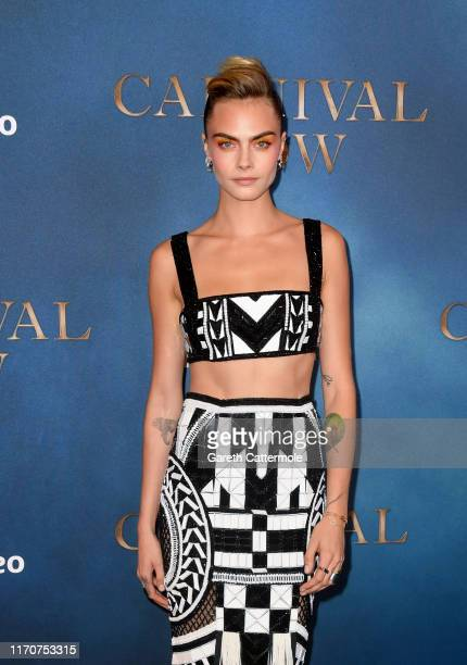 Cara Delevingne attends the Amazon Original series Carnival Row London Screening at The Ham Yard Hotel on August 28 2019 in London England
