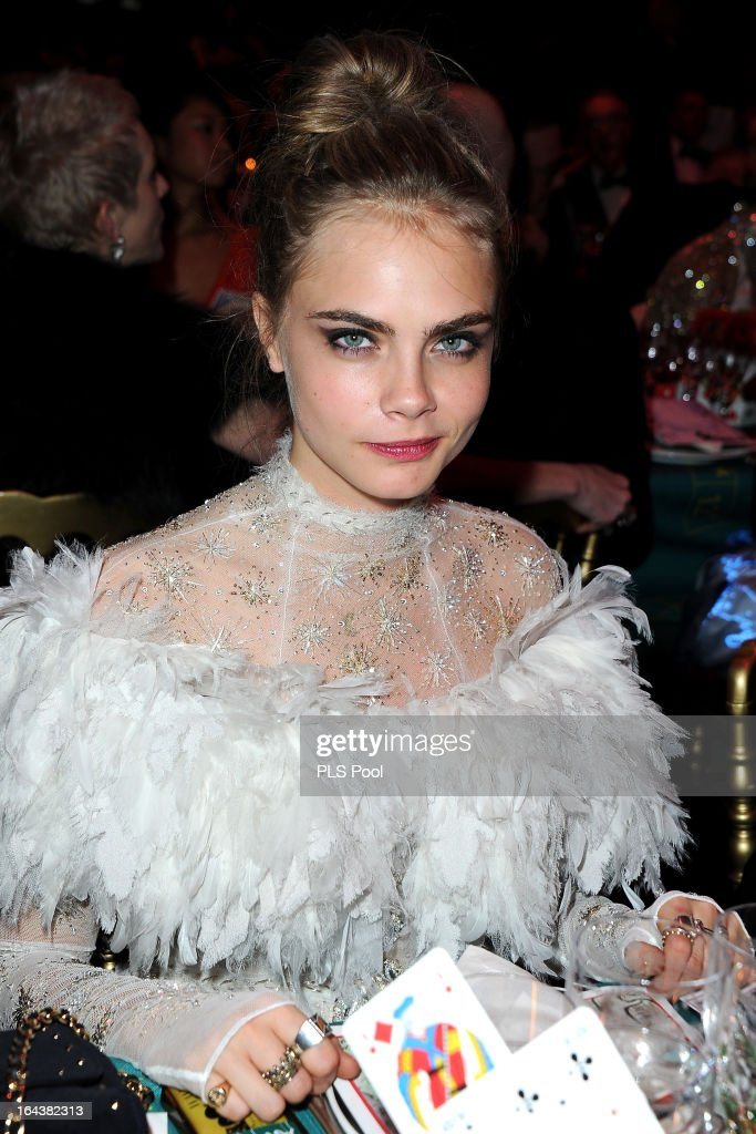Cara Delevingne attends the 'Bal De La Rose Du Rocher' in aid of the Fondation Princess Grace on the 150th Anniversary of the SBM at Sporting Monte-Carlo on March 23, 2013 in Monte-Carlo, Monaco.