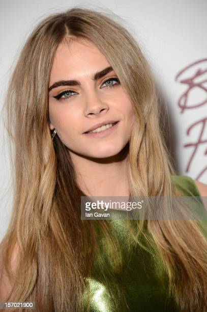 Cara Delevingne attends the British Fashion Awards 2012 at The Savoy Hotel on November 27 2012 in London England