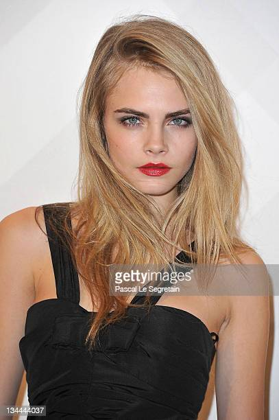 Cara Delevingne attends the Burberry Paris Boutique Opening At British Embassy on December 1 2011 in Paris France