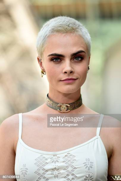 Cara Delevingne attends the Chanel Haute Couture Fall/Winter 20172018 show as part of Haute Couture Paris Fashion Week on July 4 2017 in Paris France