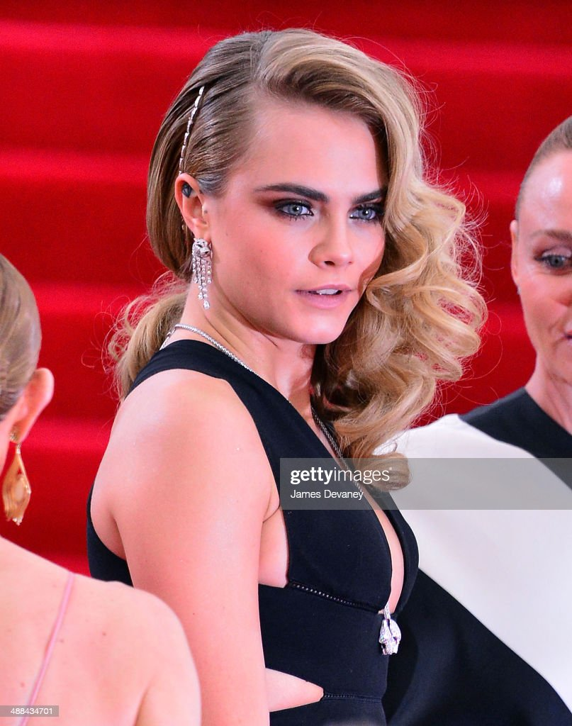 Cara Delevingne attends the 'Charles James: Beyond Fashion' Costume Institute Gala at the Metropolitan Museum of Art on May 5, 2014 in New York City.