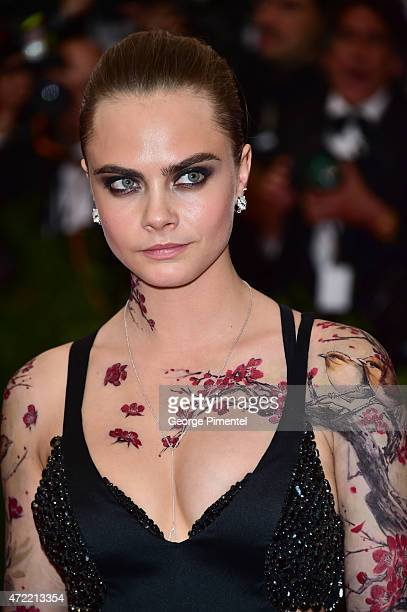 Cara Delevingne attends the 'China Through The Looking Glass' Costume Institute Benefit Gala at Metropolitan Museum of Art on May 4 2015 in New York...