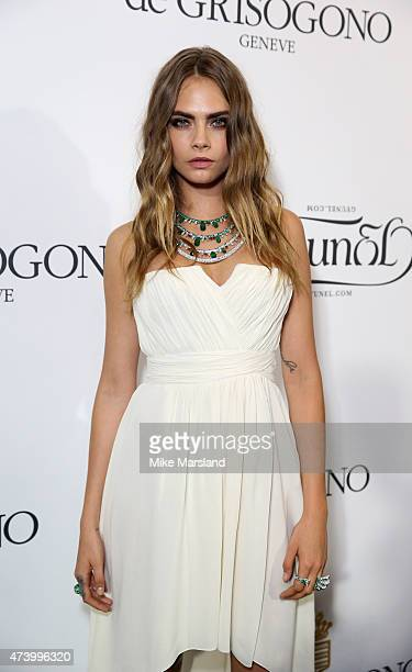 Cara Delevingne attends the De Grisogono Divine In Cannes Dinner Party at Hotel du CapEdenRoc on May 19 2015 in Cap d'Antibes France