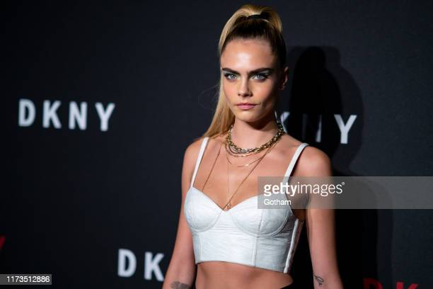 Cara Delevingne attends the DKNY 30th anniversary party at St Ann's Warehouse on September 09 2019 in New York City