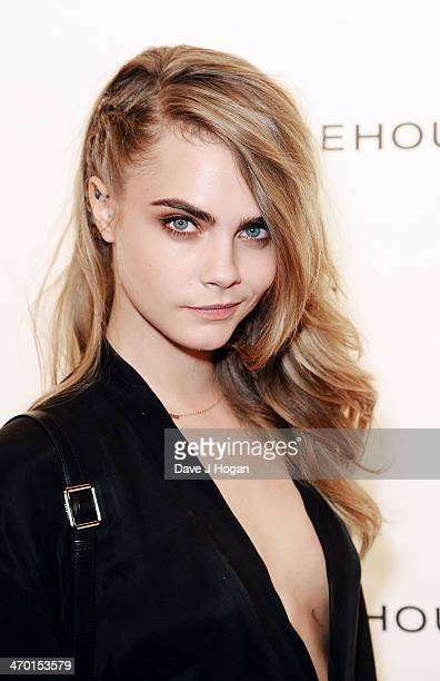 Cara Delevingne attends the Elle Style Awards 2014 at one Embankment on February 18 2014 in London England