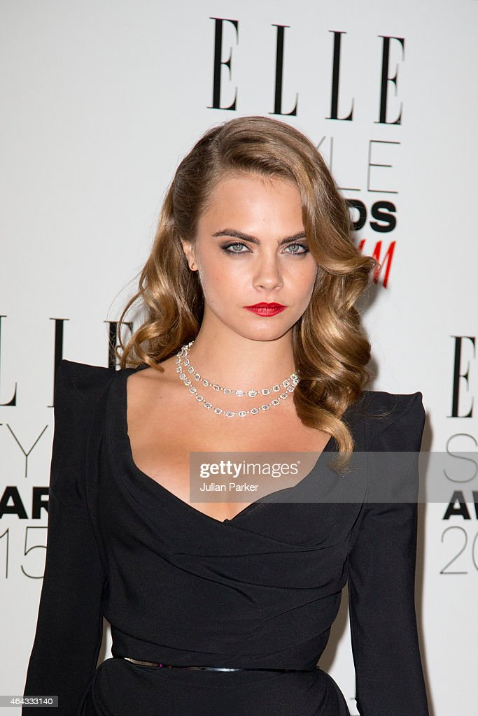 Cara Delevingne attends the Elle Style Awards 2015 at Sky Garden @ The Walkie Talkie Tower on February 24, 2015 in London, England.