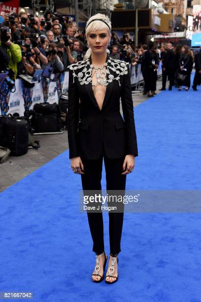 Cara Delevingne attends the European premiere of Valerian and The City of a Thousand Planets at Cineworld London on July 24 2017 in London England
