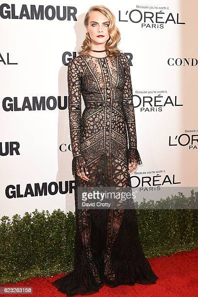 Cara Delevingne attends the Glamour Celebrates 2016 Women Of The Year Awards Arrivals at NeueHouse Hollywood on November 14 2016 in Los Angeles...