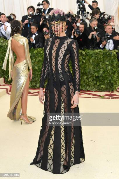 Cara Delevingne attends the Heavenly Bodies Fashion The Catholic Imagination Costume Institute Gala at The Metropolitan Museum of Art on May 7 2018...