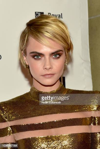 Cara Delevingne attends the Her Smell premiere during 2018 Toronto International Film Festival at Winter Garden Theatre on September 9 2018 in...