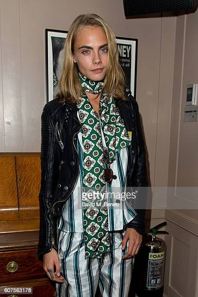 Cara Delevingne attends the launch of i-D's 'The Female Gaze' issue hosted by Holly Schkleton and Adwoa Aboah during London Fashion Week Spring...
