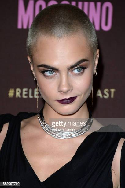 Cara Delevingne attends the Magnum party during the 70th annual Cannes Film Festival at Magnum Beach on May 18, 2017 in Cannes, France.