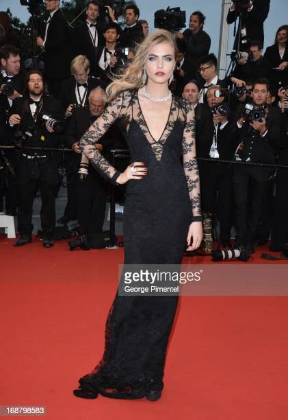 Cara Delevingne attends the Opening Ceremony and Premiere of 'The Great Gatsby' at The 66th Annual Cannes Film Festival at Palais des Festivals on...