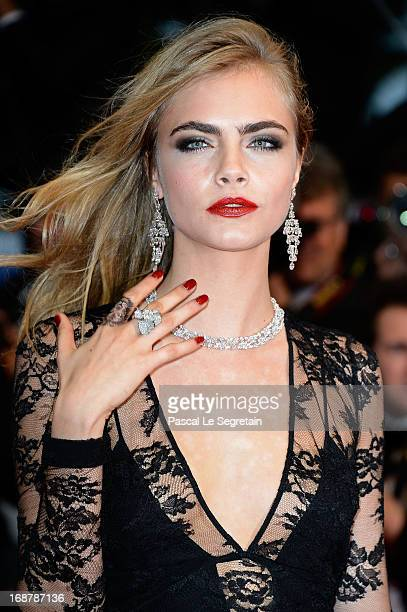 Cara Delevingne attends the Opening Ceremony and 'The Great Gatsby' Premiere during the 66th Annual Cannes Film Festival at the Theatre Lumiere on...