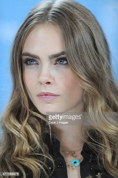 Cara Delevingne attends the Paper Towns Photocall at Claridges Hotel on June 18 2015 in London England