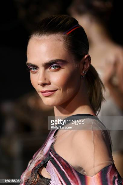 """Cara Delevingne attends the LA premiere of Amazon's """"Carnival Row"""" at TCL Chinese Theatre on August 21, 2019 in Hollywood, California."""