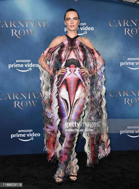 Cara Delevingne attends the LA Premiere of Amazon's Carnival Row at TCL Chinese Theatre on August 21 2019 in Hollywood California